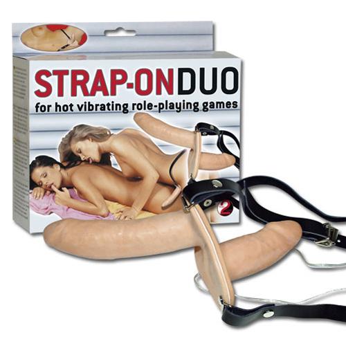 Dubbel Vibrerende Strap-on #5