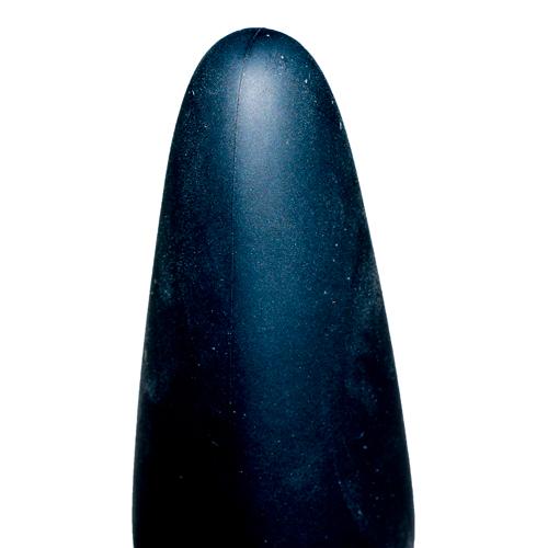 True Black Vibrating Anal Plug #3