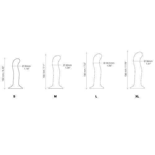 Strap On Me - Point - Dildo Voor G- en P-spot Stimulatie - S #13