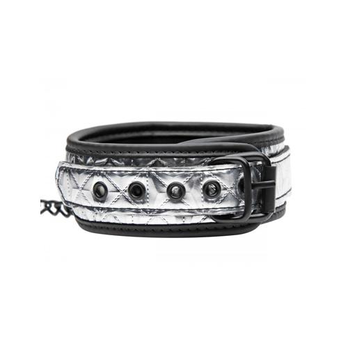 Platinum Bound Halsband Met Riem #3
