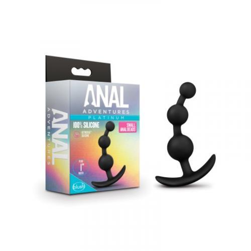 Anal Adventures Platinum - Anaal Plug Met Kralen - Small #3