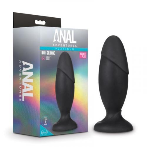 Anal Adventures Platinum - Silicone Rocket Grote Anaal Plug #3