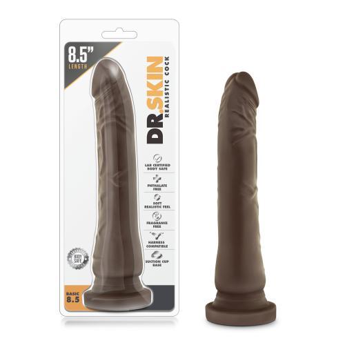 Dr. Skin - Realistische Dildo Met Zuignap 21 cm - Chocolate #11