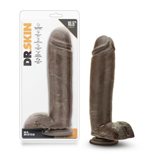 Dr. Skin - Mr. Mister Dildo Met Zuignap 26 cm  - Chocolate #5