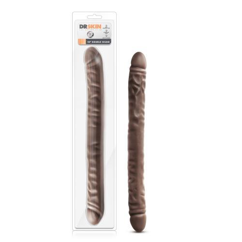 Dr. Skin - Realistische Dubbele Dildo 45 cm - Chocolate #5