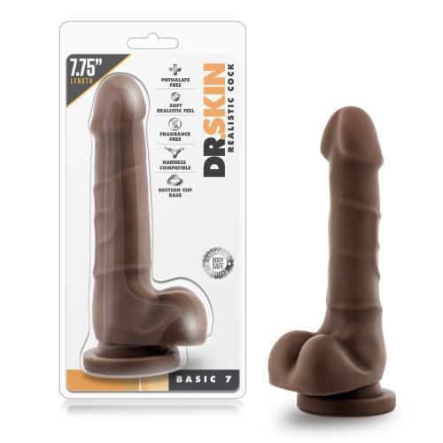 Dr. Skin - Realistische Dildo Met Zuignap 20 cm - Chocolate #11