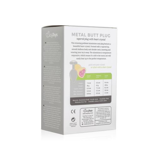 Metalen buttplug met hartje - zilverkleurig #13